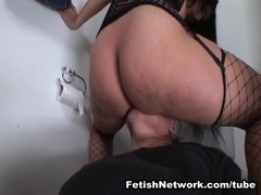 EliteSmothering Video: Bathroom fun with a big Latino booty