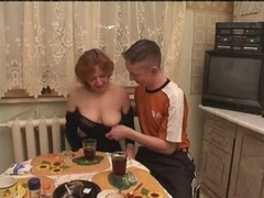Russian aged pleasure with two youths