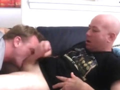 Hot Blonde Dude Rides Stud Boyfriend's Massive Cock Hard
