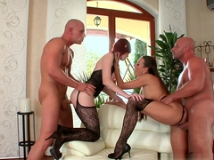 Best pornstars Leny Ewil, Kattie Gold in Hottest Stockings, European porn movie