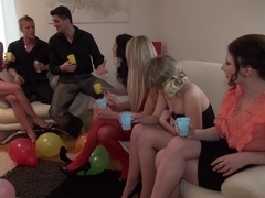 Abelia & Angel Piaff & Corrine & Derica & Ilsa in hot college sex with a group of horny students