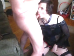 21 year old crossdresser obeying daddy