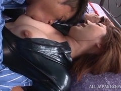 Tsubasa Amami hot milf enjoys hard pounding and cum
