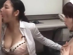 Exotic Japanese chick Rina Fukada, Haruna Saeki, Maki Mizusawa in Best Cumshot, Threesome JAV movie