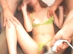 Crazy Japanese slut Nana Otone in Amazing Handjobs, Close-up JAV clip