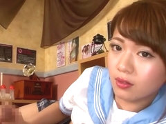 Incredible Japanese whore in Hottest Couple, POV JAV video