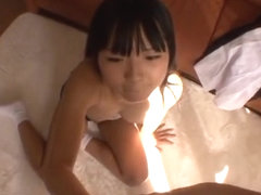 Hot Tokyo teen in school uniform gets licked and drilled