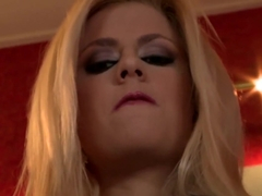 Hottest pornstars Jessie Volt and Katrin Wolf in crazy swallow, facial porn scene