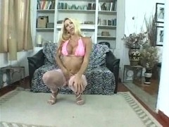 Sensual blondie strips for sex