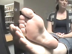 2 women with nut draining soles