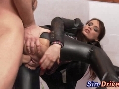 Cfnm babes rip clothes in fetish threesome