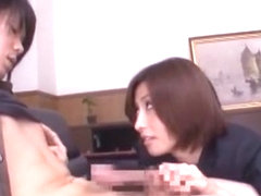 Fabulous Japanese girl Akari Asahina in Horny CFNM, Blowjob/Fera JAV clip