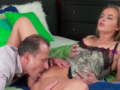 Exotic pornstars Candy Alexa, George in Horny Creampie, Romantic adult clip