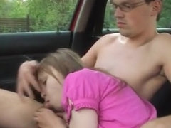 Sex with my busty babysitter in the car