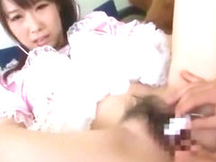 Hottest Japanese chick Hitomi Oki in Incredible Stockings/Pansuto, Babysitters JAV video