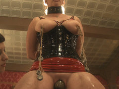 Cherry Torn & Bella Rossi in Service Session Wednesday: Latex Corset Training 101 - TheUpperFloor