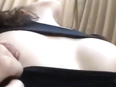 40 asian milf play with her big nipples