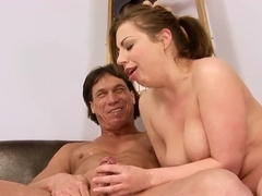 Beauty and guy fuck in doggie after oral sex