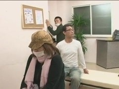 Chikan in the waiting room