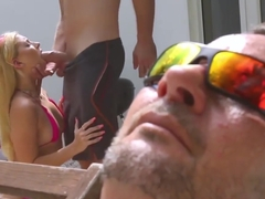 Young 18 Anal He Porks Her By The Steps Of The Pool And Blas