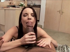 Horny pornstar Dana De Armond in best blowjob, facial adult scene