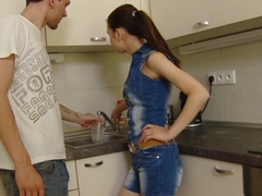 Casual Teen Sex - Timea Bella - Casual fucking in a kitchen