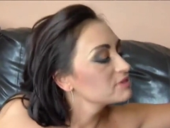Black dick enters holes of Claudia Valentine