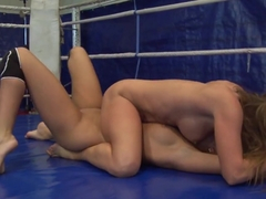 Cathy Heaven and Ivana Sugar pussy lick in the ring