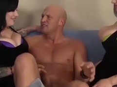 Best pornstars Marilyn Mayson and Scarlet Lavey in horny tattoos, cumshots porn clip