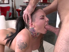 Tattooed chick Christy Mack is fucked nicely
