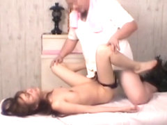 Kinky masseur hardly fucking the hairy Asian pussy dvd DBAL015.HQ
