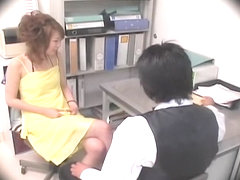 Lovely Jap crammed and creamed in spy cam office sex clip