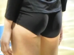 Nice athletic ass of a volleyball player