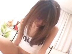 Horny Japanese slut Asuka Sawaguchi in Amazing Ass, Girlfriend JAV clip