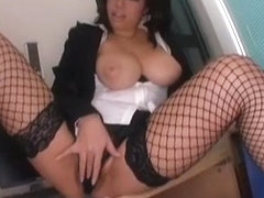 Horny Japanese model Neiro Suzuka in Exotic Stockings, Striptease JAV scene