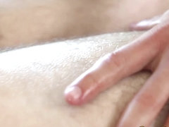 Gay masseuse rides clients thick cock