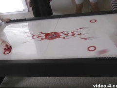 Strip Air Hockey with Aubrey Cherry Belle Devon