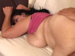 big beautiful woman-Granny takes two Fellows and large Fake Penis