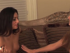 Andie Valentino and Elena Rivera play with twats