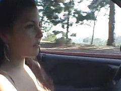 Handjob and masturbation in the car