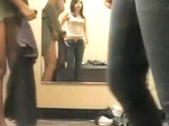 Naughty teens caught on fit room cam