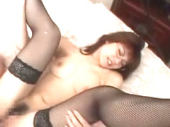 Amazing Japanese slut Rion Morishita in Best Fingering, Fishnet JAV scene