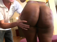 Fuckable chocolate by Ebony Chanel Staxx with extremely powerful ass