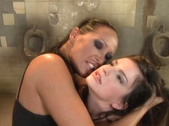 Anna Marie La Sante lesbian punished in public toilet