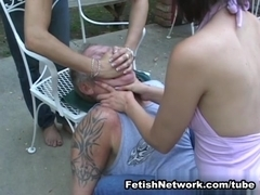 EliteSmothering Video: Double blue jeans smother