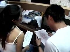 Taiwanese couple take a study break