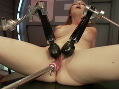 Best fetish sex video with crazy pornstar Scarlett Fay from Fuckingmachines