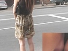 Hawt candid upskirt in the street