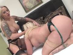 Best pornstars Payton West and Leya Falcon in incredible blowjob, stockings xxx movie