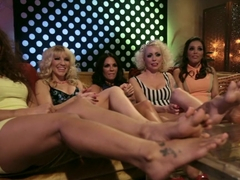 Fabulous fetish, lesbian sex video with hottest pornstars Lorelei Lee, Francesca Le and Ashley Fir.